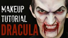 Dracula Halloween makeup tutorial for guys, for man, for kids. Learn how to…