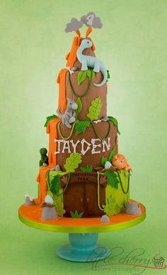 Prehistoric Park Dinosaur Birthday Cakes 4th Party Toddler