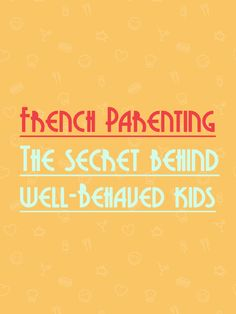 In this article I shared some few inherent facets of French parenting and you are welcome examine if it can be incorporated into your own style of parenting. http://www.talkinfrench.com/french-parenting/ Share with parents.