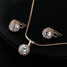 Moda Marka Italina Biżuteria Wąż Łańcuch Naszyjnik Kolczyki Zestaw Biały Cyrkonia CZ Biżuteria Zestaw