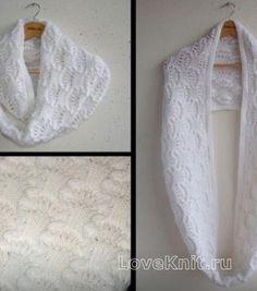 Схема вязание спицами модели и схемы белый шарф-труба