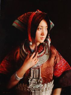 Woman in Red by Zhang Yibo