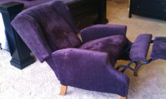 Purple Recliner Recover