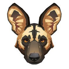 """Wild Dog Portrait"" by Paula Lucas. Part of the Canine Portrait series. Lucas Arts, Wild Dogs, Hyena, Dog Portraits, Drawing Ideas, Scooby Doo, Illustrator, Illustration Art, Aesthetics"