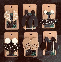 Polymer Clay Miniatures, Polymer Clay Creations, Polymer Clay Crafts, Polymer Clay Jewelry, Diy Clay Earrings, Earrings Handmade, Gold Earrings, Arte Inspo, Die Renaissance