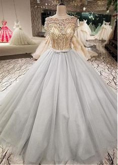 3ab476f34b1 Alluring Tulle Bateau Neckline Ball Gown Wedding Dress With Lace Appliques    Beadings   Belt