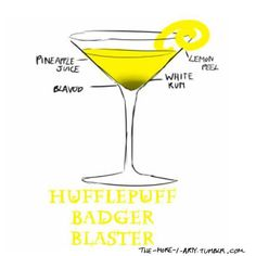 Huff And Puff, Hogwarts, The Fool, Martini, Juice, Tableware, Glass, Drinks, Cocktails