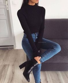 Casual Winter Outfits, Winter Fashion Outfits, Classy Outfits, Look Fashion, Fashion Clothes, Stylish Outfits, Autumn Fashion, Womens Fashion, Casual Hair