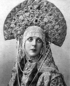 Princess Olga Orlova-Davydova in Masquerade Costume for the 1903 Ball in the Winter Palace
