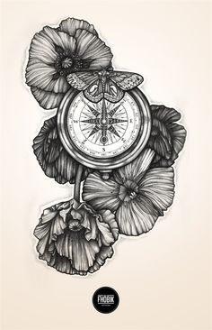 "Curioos.com | ""Compass Flowers"" by Fhöbik (France) - http://pinterest.com/curioos"