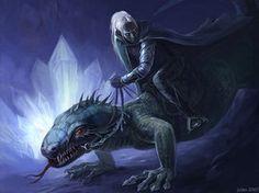 Menzoberranzan lizard riders. Possibly Berg'inyon Baenre?