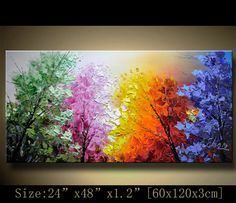 contemporary wall artPalette Knife Paintingcolorful by xiangwuchen