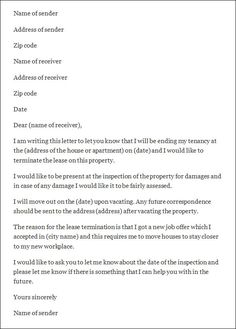 How Write Termination Letter Lease Cover Templates Notice Terminate Tenancy  Will Landlord Template Amp Sample