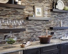 Kitchen Backsplash Ideas from Drury Design - we NEED to finally finish our kitchen backsplash from when we repainted our kitchen ... two years ago.