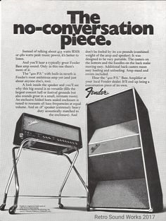 The Most Powerful Tube Amp of All Time: Behind the Fender 400 PS Fender Vintage, Vintage Ads, Retro Ads, Vintage Music, Vintage Advertisements, Stratocaster Guitar, Fender Guitars, Bass Guitars, Valve Amplifier