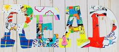 Read Letters, Big Letters, Letter Set, Letter Wall, Bulletin Board Letters, Painting Wooden Letters, Character Letters, Teacher Signs, Classroom Walls