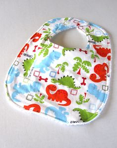 Lil Dinos  Boutique Terry Cloth Bib by SweetBabySprinkles on Etsy, $7.50