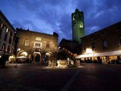 Piazza Vecchia of Bergamo in Italy