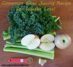 Cinnamon Glow Juicing Recipe For Weight Loss: This is a metabolism boosting, calorie burning weight loss juice recipe that will accelerate your weight loss! Include exercise for even better results! Click for a detailed breakdown of the ingredients and to learn more about juicing for weight loss.   #weightloss #juicing #juicerecipes #juicecleanserecipes