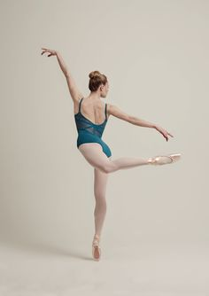 Bloch L7727 EYAL Lace and ribbon panelled back and front yoke wide strap camisole leotard