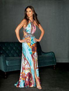 (Foto 60 de 119) Bonito vestido de fiesta en saten multicolor., Galeria de fotos de Colección Fiesta Night Moves by Alure