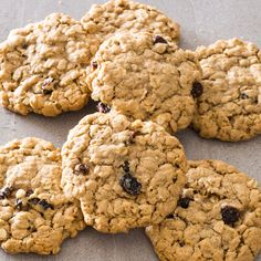 Classic Chewy Oatmeal Cookies by Cook's Illustrated -- Knowingly or not, most folks use the cookie recipe from the Quaker canister. We wanted a cookie that was chewier, moister, and easier to make. Best Oatmeal Cookies, Oatmeal Cookie Recipes, Dried Cherries, Dried Cranberries, Americas Test Kitchen, Calories, Kitchen Recipes, Chef Recipes, Kitchen Tips