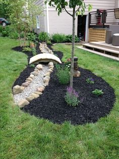 Having a dry creek bed in your garden will give a soothing and natural look over there. Also, one such bed will allow efficient drainage of rain water. And guess what it is not at