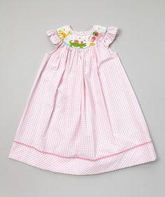 This Pink Smocked Birthday Bishop Dress - Infant, Toddler & Girls is perfect! #zulilyfinds