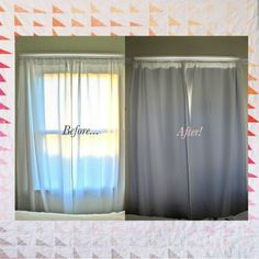No-sew DIY Blackout Curtains. So freaking easy!!! I love the other projects on her blog too!