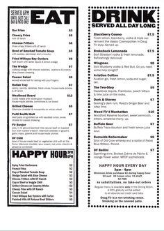 Doug Fir Lounge - Portland, Oregon - good happy hour menu. Great music at night.