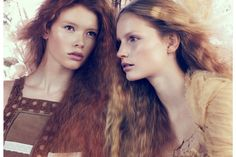 Katrin Thormann and Julia Hafstrom.  Vogue China April 2010