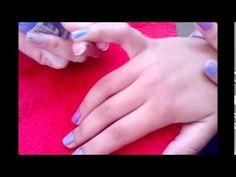 Passando esmalte branco, sem manchar - YouTube