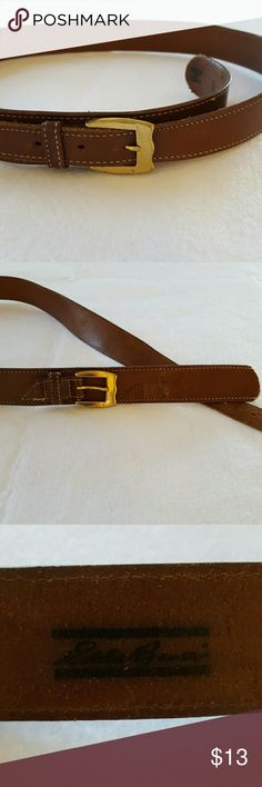 Vintage leather Eddie Bauer belt Large Vintage used condition, please look at pictures carefully. Eddie Bauer Accessories Belts