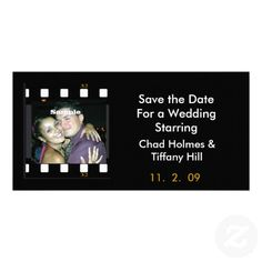 Fun Photo Film Save the Date Card Photo Cards  #savethedate #wedding