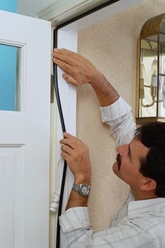 With colder weather approaching it's a great time to weather-proof your house to keep your family and wallet at ease. home maintenance Door Weather Stripping - The Right Way Home Improvement Loans, Home Improvement Projects, Home Projects, Home Improvements, Home Improvement Companies, Energy Projects, Home Renovation, Basement Renovations, Basement Plans