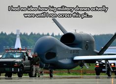 Military Drones' Real Size