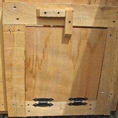 In need of a small wooden door for your chicken coop? Check out these pine doors that& the perfect size for your chickens. Order from Jamaica Cottage Shop!