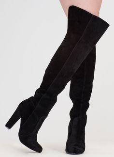 Walking Tall Over-The-Knee Boots BLACK $57.20 http://www.gojane.com/120068.html