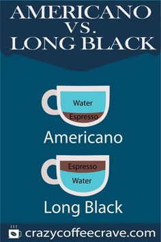 A true black coffee enthusiast has most probably already tried a cup of Americano and a cup of long black. They are similar as they are both espresso-based brews, with one differentiating characteristic: the component that is poured first. Coffee Guide, Coffee Blog, Need Coffee, Coffee Type, Long Black Coffee, Coffee Facts, Caffeine Addiction, Coffee Photography, Fun Cup
