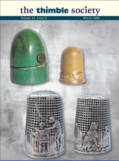 Gold thimble in a shagreen case. Two coloured gold thimble with tiny French mk for 18ct gold. Made circa  1830, in excellent crisp condition. The green shagreen [shark skin or fish skin] case c.1830, also in excellent  condition.