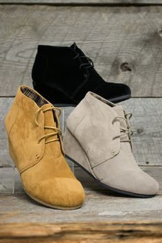 Desert Suede Low Wedge Shoe
