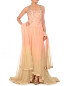 Ombre Peach and Butter Cream Suit