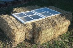cold frame made out of straw bales