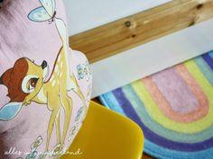 Ein DIY-Regenbogen-Teppich für's Kinderzimmer