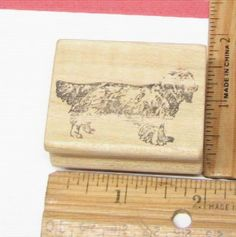 LONG HAIRED BASSET HOUND DOG BY CLA DESIGNS RUBBER STAMP #CLA #rubberstamp