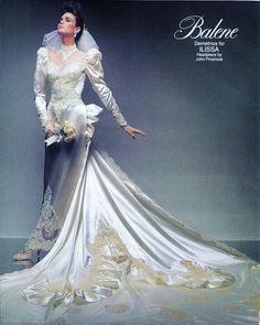 Image may contain: 1 person 1980s Wedding Dress, Gorgeous Wedding Dress, Dream Wedding Dresses, Bridal Dresses, Wedding Gowns, Vintage Gowns, Vintage Bridal, Vintage Weddings, Royal Brides