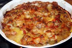 Aardappeltaart met spek en ui