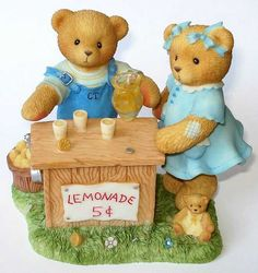 Heidi´s Cherished Teddies Galerie: ALBERT and SUSANN - Whenever Life Hands You Lemons, Make Lemonade (661848)