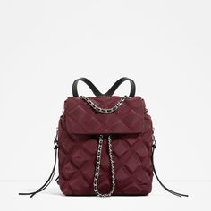 f889deab09 ZARA - WOMAN - QUILTED CHAIN BACKPACK Fashion Backpack