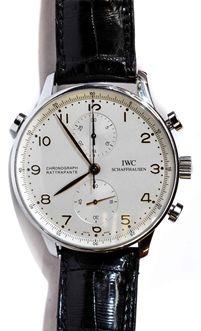 26204d737af IWC Portuguese IW3712 SS Rattrapante Chronograph Часы Из Нержавеющей Стали